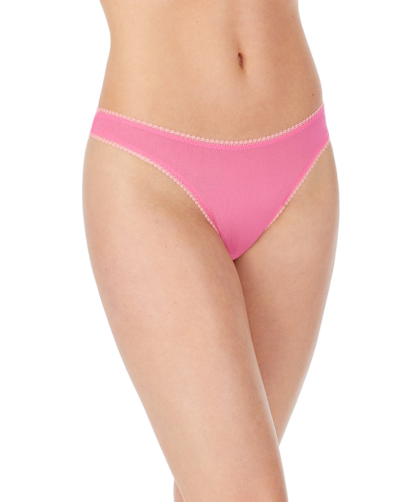 Gossamer Mesh Hip G Thong - Rose Water
