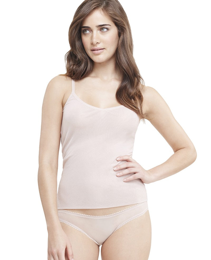 Gossamer Mesh Reversible Camisole - Champagne