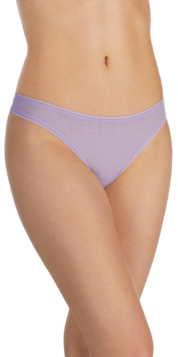 Gossamer Mesh Hip-G Thong - Heirloom Lilac