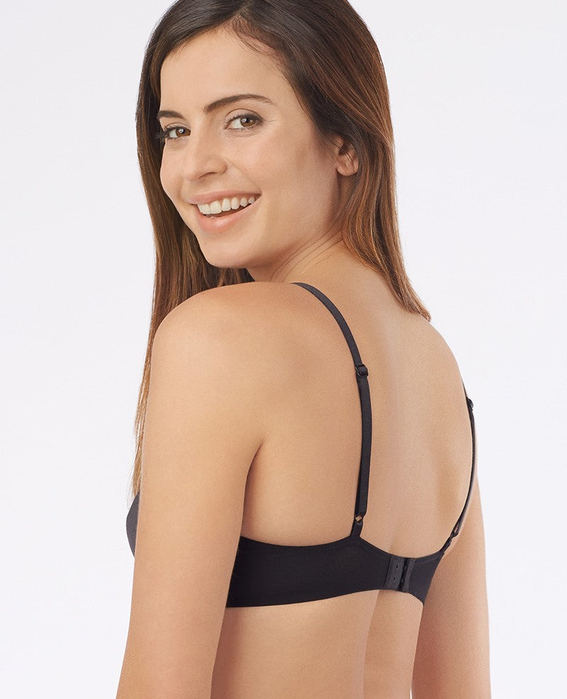 Bare Illusion Unlined Bra  - Black