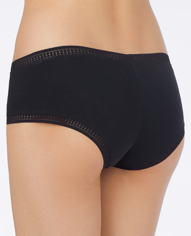 Cabana Cotton Boyshort - Black
