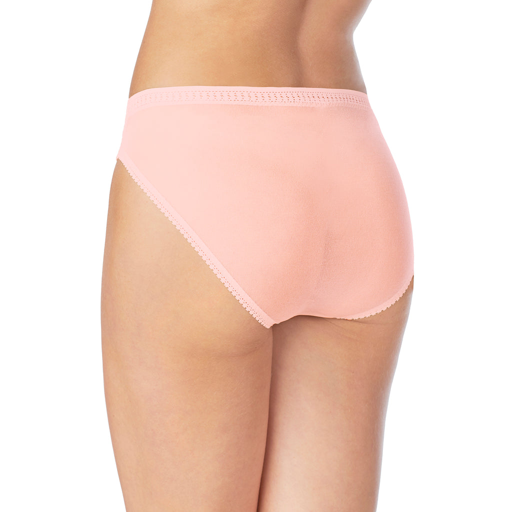 Gossamer Mesh Hi-Cut Brief - Blush