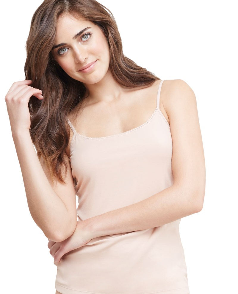Cabana Cotton Shelf Cami - Champagne