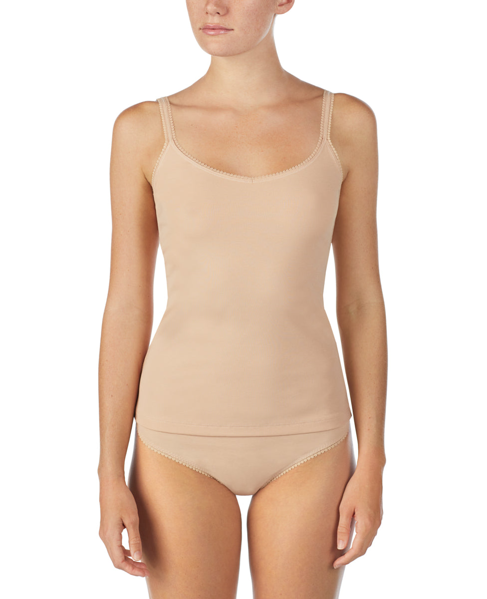 Cabana Cotton Reversible Camisole - Champagne