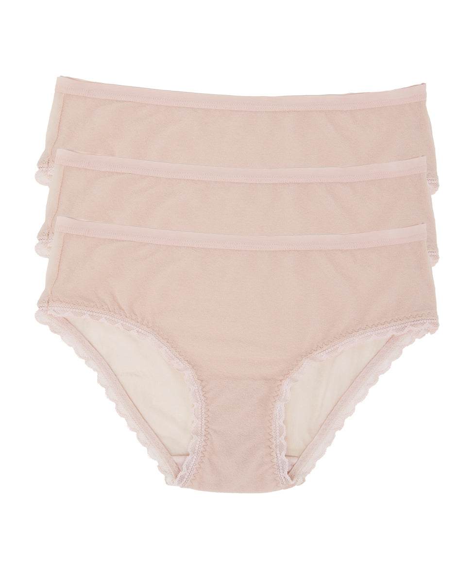 Next to Nothing Hip Brief 3-Pack - Champagne