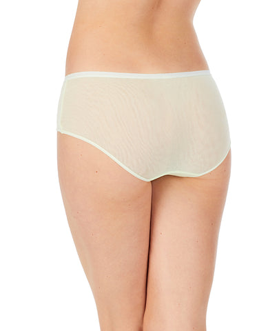 Gossamer Mesh Boyshort - Lime Cream