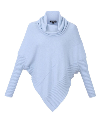Marble Roll Neck Poncho