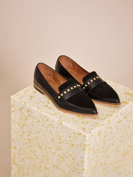 MM Doha Black Suede Shoes