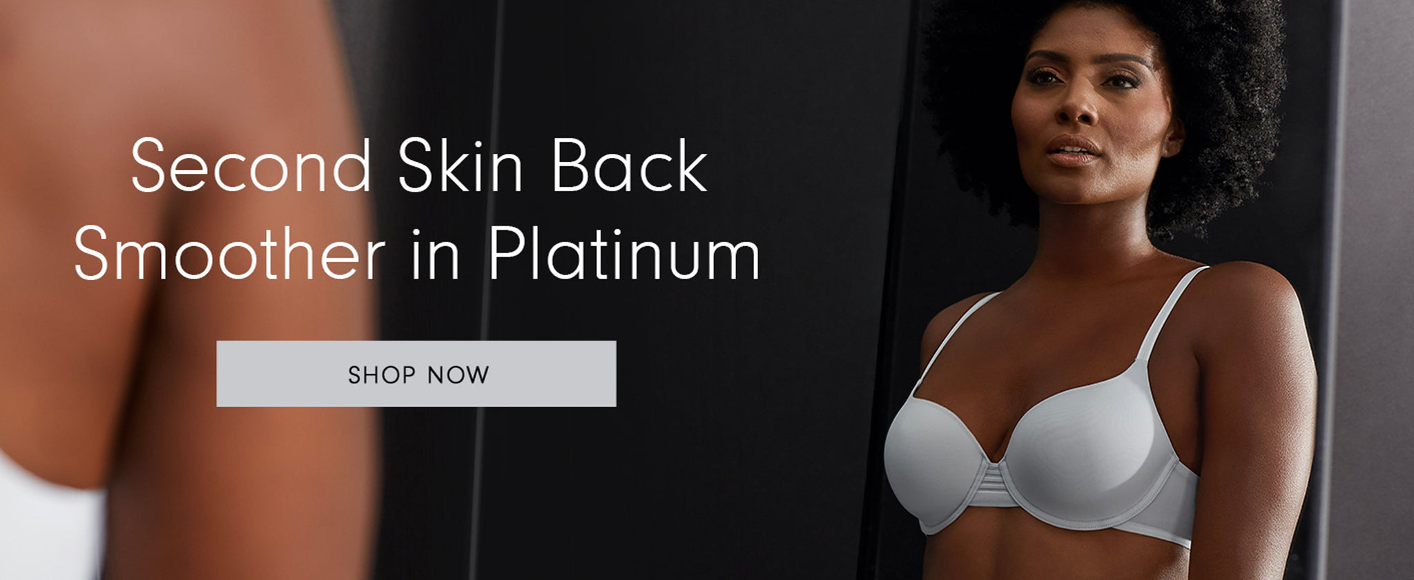 Le Mystere Second Skin Back Smoother in Platinum Bra homepage.