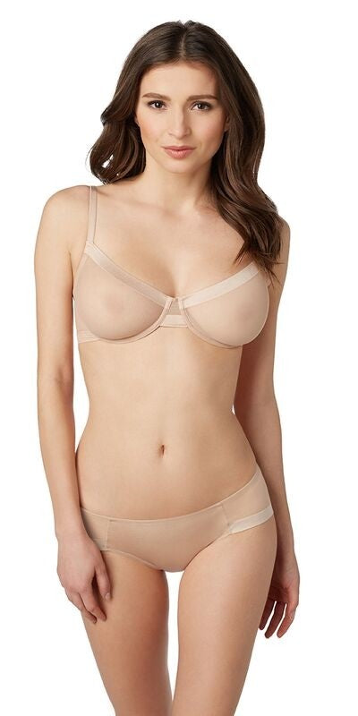 Infinite Sheer Unlined Bra - Natural