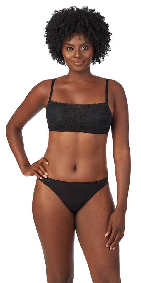 Cotton Touch Wireless Bra - Black