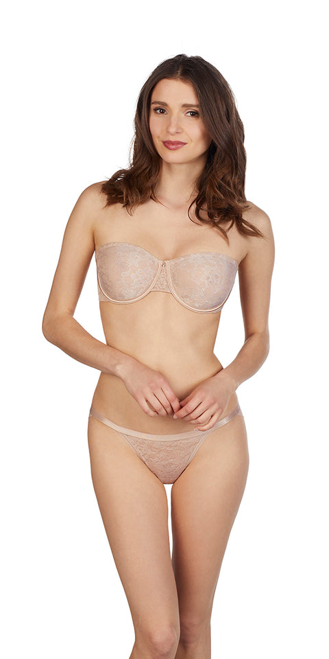 Lace Perfection Unlined Strapless - Natural
