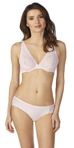 Natural Comfort Lace Underwire Bra - Shell