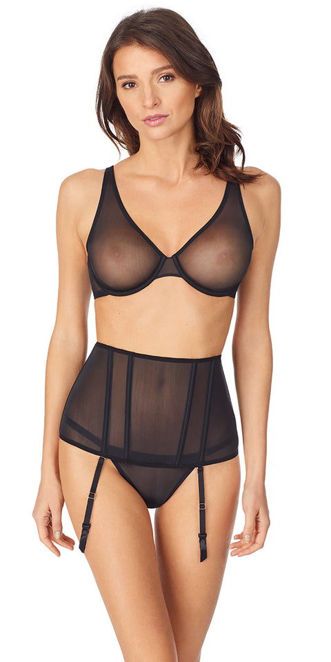 Sheer Seduction Unlined - Black