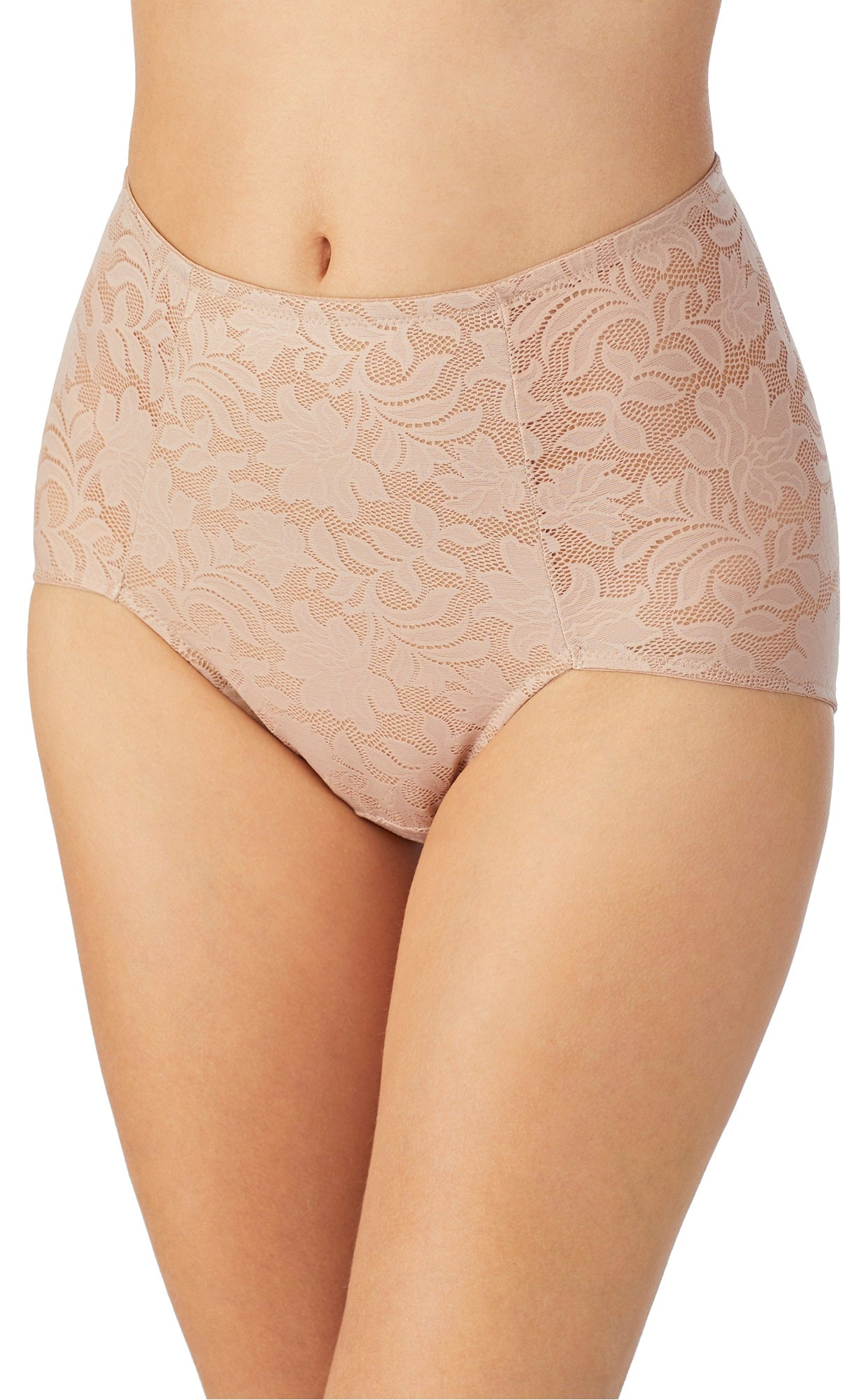 Lace Comfort Brief - Natural