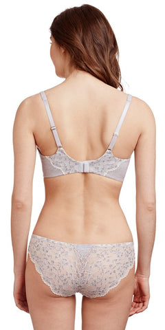 Comfort Chic Balconette Bra - Heather Grey