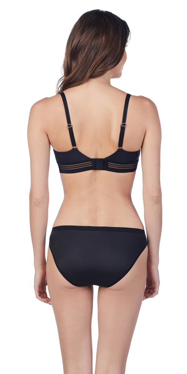 Second Skin Wireless Bra - Black