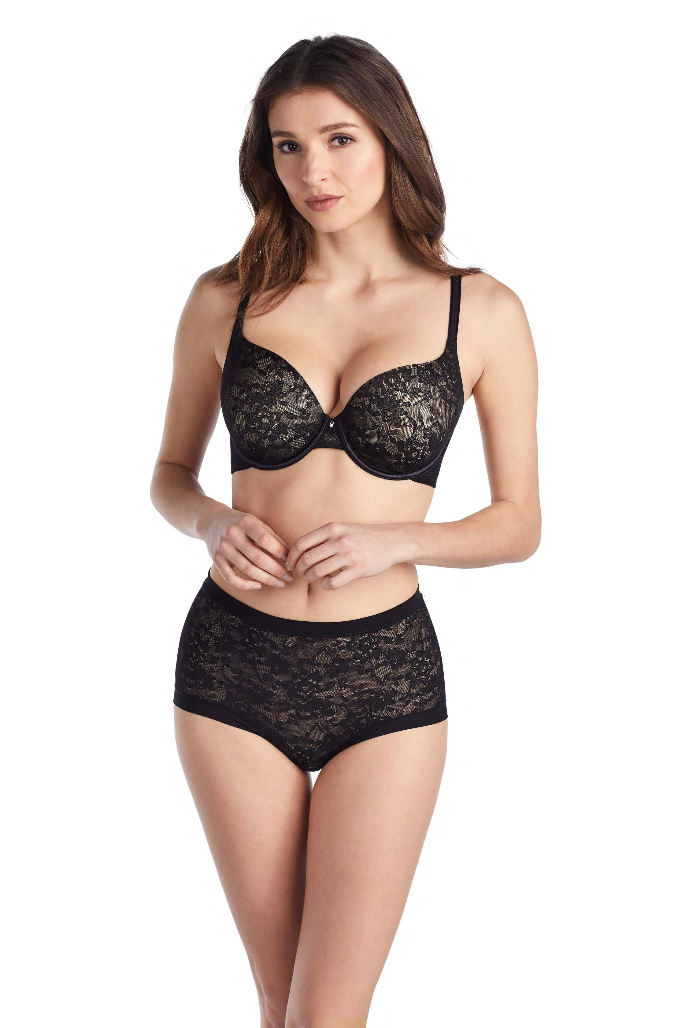 Lace Perfection T-Shirt Bra – Black