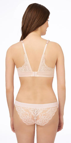 Sophia Lace T-Back Bra - Almond
