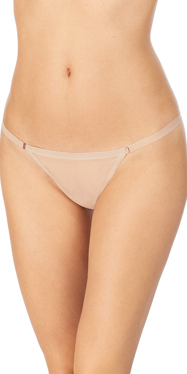 Sheer Seduction Thong - Natural