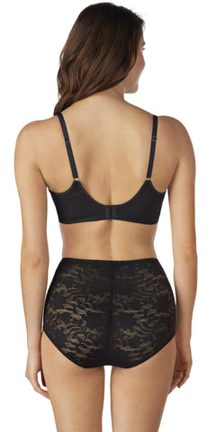 Lace Comfort T-Shirt Bra - Black
