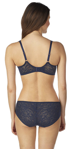 Natural Comfort Lace Underwire Bra - Night Sky