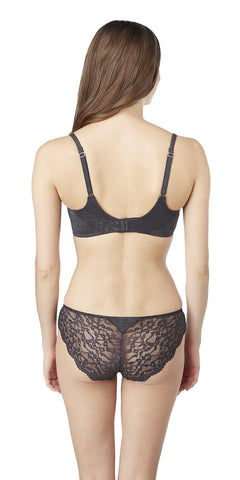 Comfort Chic Balconette Bra - BlackHeather