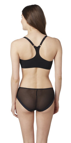 Sheer Illusion Racerback - Black