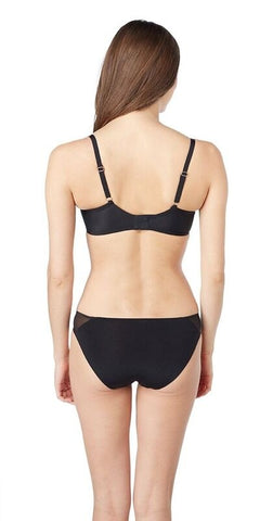 Shine & Sheer Unlined Demi Bra - Black