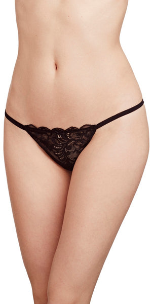 Sophia Lace Thong - Black