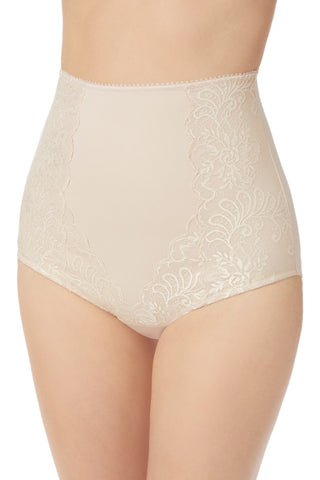 Sophia Lace High Waist Smoother - Almond
