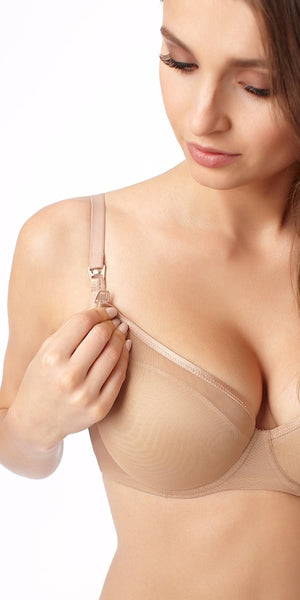 Mama Mia Nursing Bra - Natural