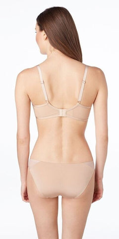 Shine & Sheer Unlined Demi Bra - Natural