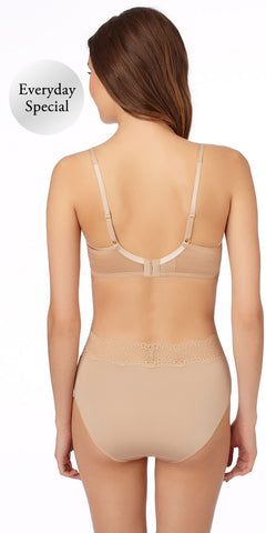 Cotton Touch Spacer Bra - Natural