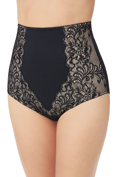 Sophia Lace High Waist Smoother - Black
