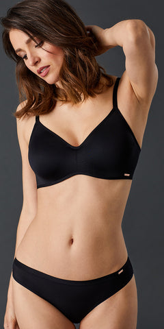 Clean Lines Unlined Bra - Black