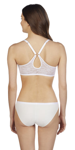 Lace Perfection Convertible Racerback - Crystal White