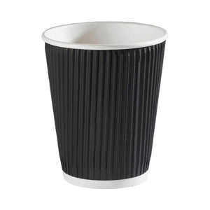 Black Ripple Cups 12oz (500 pack)