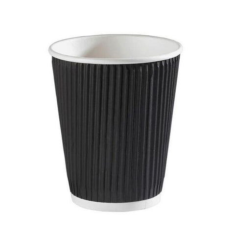 Black Ripple Cup 8oz (500 pack)