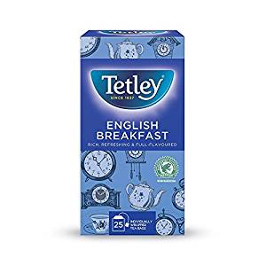 Tetley English Breakfast Tea (1x25 envelopes)