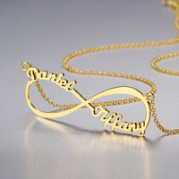 Infinity Engrave Name Necklace 925