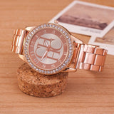 Watches Women Gold Fashion (Stainless Steel Crystal)