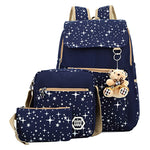 Backpacks For Teenage Girls (Cute Bear 3 Set Backpack)