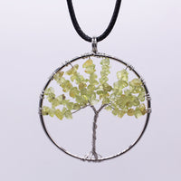 Rainbow 7 Chakra Pendent Tree Of Life