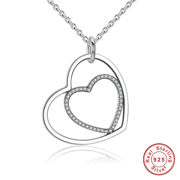 Heart To Heart Pendant Necklace 925