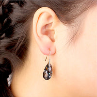 Black Crystal From Swarovski Drop Earrings