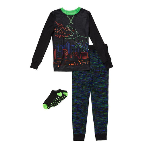 Boys Long Sleeve Top & Jogger Pajama with Sock Set