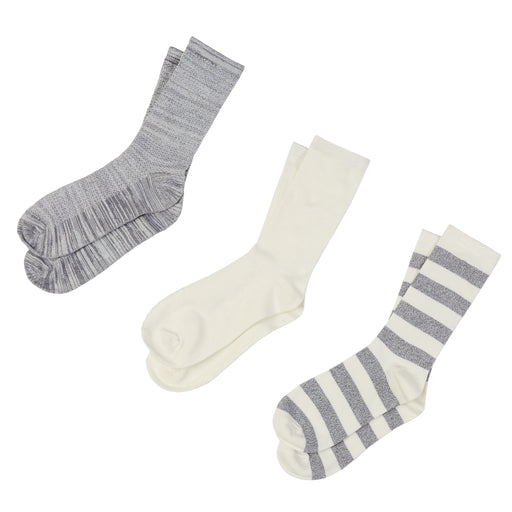 Twist Stripe Crew Socks 3ppk