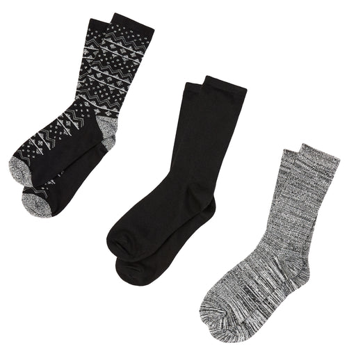 Triangle Fairisle Crew Socks 3ppk