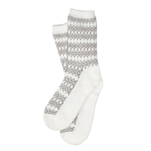 Heavyweight Womens Geo Fairisle Crew Sock